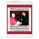 His Holiness Meets The Pope Card