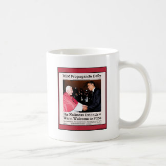 His Holiness Meets The Pope Classic White Coffee Mug