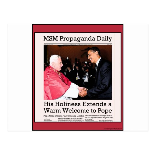 His Holiness Meets The Pope Postcard