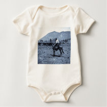 His Horse and His Cattle are His Only Companions Baby Bodysuit