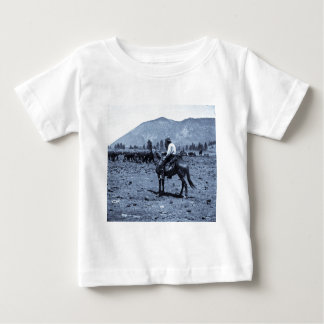 His Horse and His Cattle are His Only Companions Baby T-Shirt