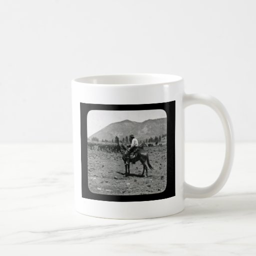 His Horse and His Cattle are His Only Companions Classic White Coffee Mug