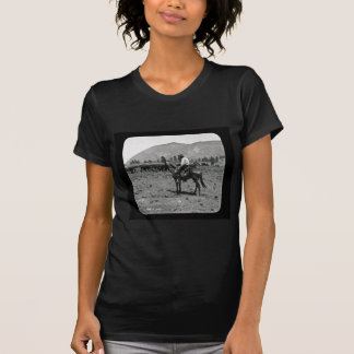 His Horse and His Cattle are His Only Companions T Shirt