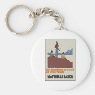 His hunting ground of yesterday National Parks Keychain