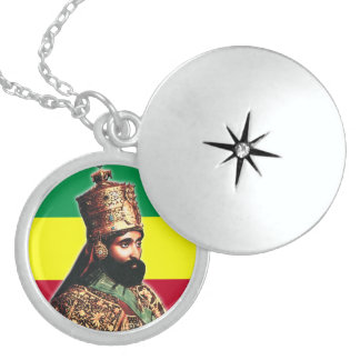 His Imperial Majesty Emperor Haile Selassie I Round Locket Necklace