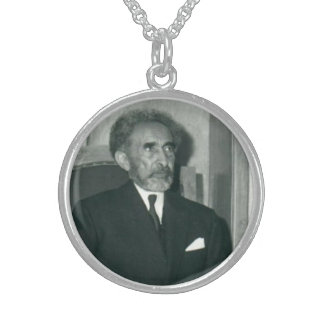 His Imperial Majesty Emperor Haile Selassie I Round Pendant Necklace