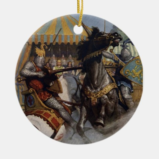 His Lady's Sight Double-Sided Ceramic Round Christmas Ornament
