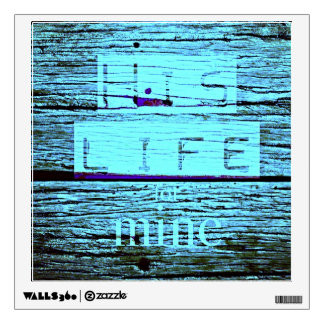 His Life for mine Christian wall decal