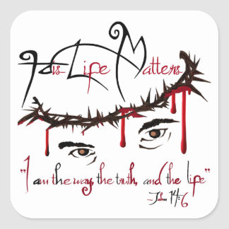 His Life Matters Christian Stickers