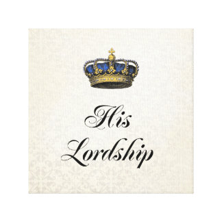 His Lordship Canvas Print