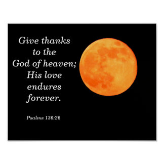 His love endures -- Psalms Poster Art