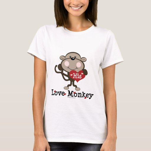 His Love Monkey Funny Valentine's Day T-shirt