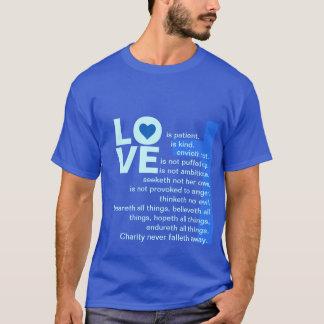 His Love Never Fails (Catholic Blue) T-Shirt