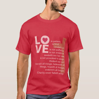 His Love Never Fails (Catholic Red) T-Shirt
