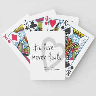 his love never fails henry b eyring lds quote bicycle playing cards