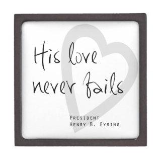 his love never fails henry b eyring lds quote premium keepsake box