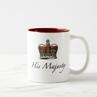 His Majesty, His Highness Two-Tone Coffee Mug