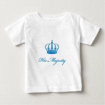 His Majesty text design with  an old crown Baby T-Shirt
