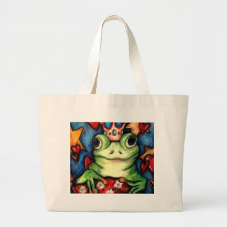 His Majesty The Frog Prince Large Tote Bag