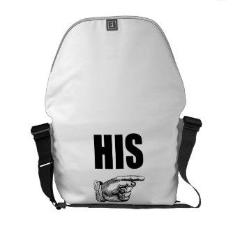 His Marriage Husband Wife Messenger Bag