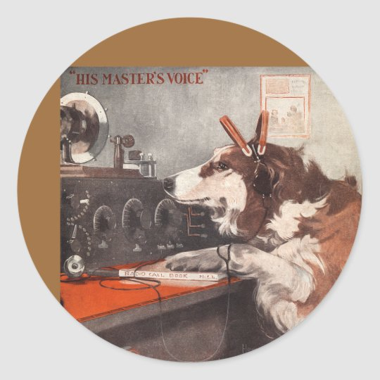 His Master's Voice Classic Round Sticker