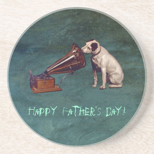 His Master's Voice Father's Day Drink Coasters