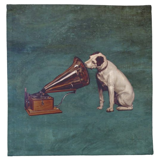 His Master's Voice Father's Day Napkin