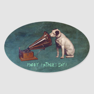 His Master's Voice Father's Day Oval Sticker