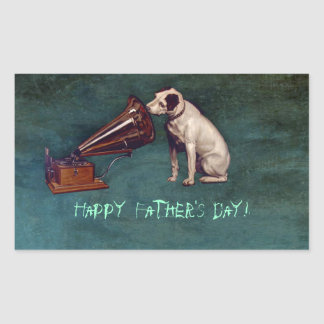 His Master's Voice Father's Day Rectangular Sticker