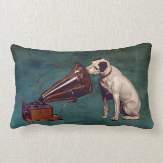 His Master's Voice Father's Day Throw Pillow
