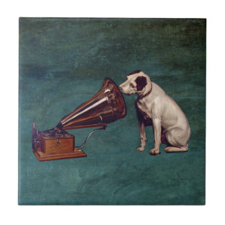 His Master's Voice Father's Day Tile