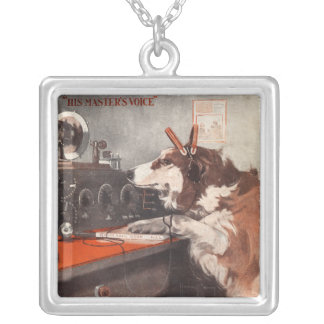 His Master's Voice Silver Plated Necklace