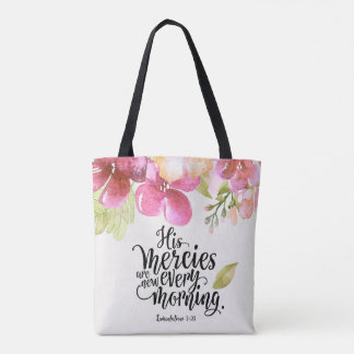 His Mercies Are New All Over Print Tote Bag