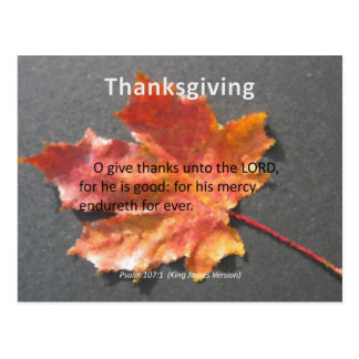 His Mercy Endureth Thanksgiving Psalm 107 1 Post Cards