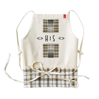 His Monogram Ethnic Vibes of Zazzle Heart Apron