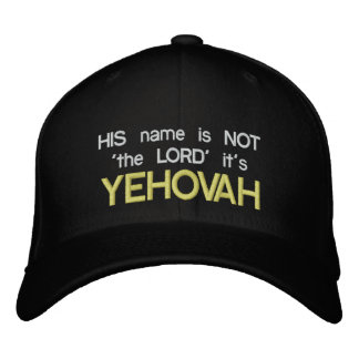 His name is NOT the LORD black cap Embroidered Baseball Caps