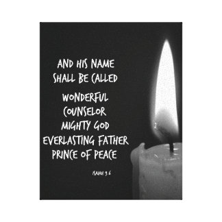 His Name Shall Be Called Wonderful Bible Verse Canvas Print