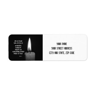 HIs name shall be Prince of Peace Bible Verse Label