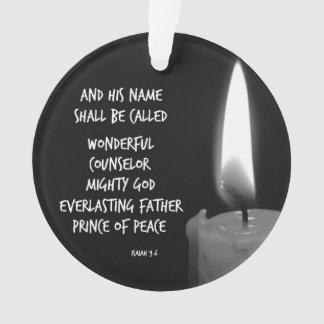HIs name shall be Prince of Peace Bible Verse Ornament
