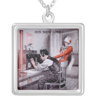 His New Love! Silver Plated Necklace
