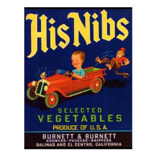 His Nibs Postcards