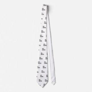 His Queen Print Neck Tie