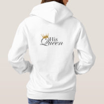 His Queen, Q on front pocket Hoodie