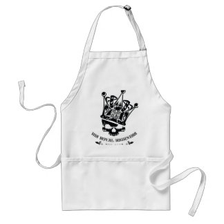 His Royal Highness Logo Adult Apron