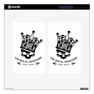 His Royal Highness Logo Decals For Kindle Fire