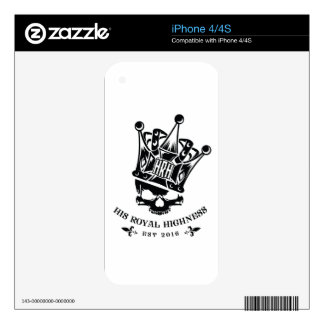 His Royal Highness Logo Decals For The iPhone 4