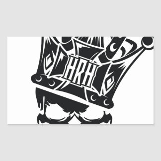 His Royal Highness Logo Rectangular Sticker