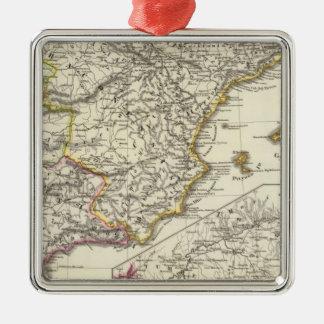 Hispania 2 square metal christmas ornament