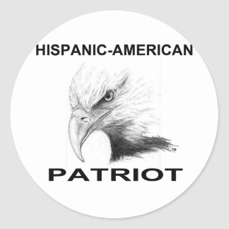 Hispanic-American Patriot Classic Round Sticker