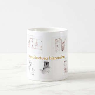 Hispanic architecture coffee mug